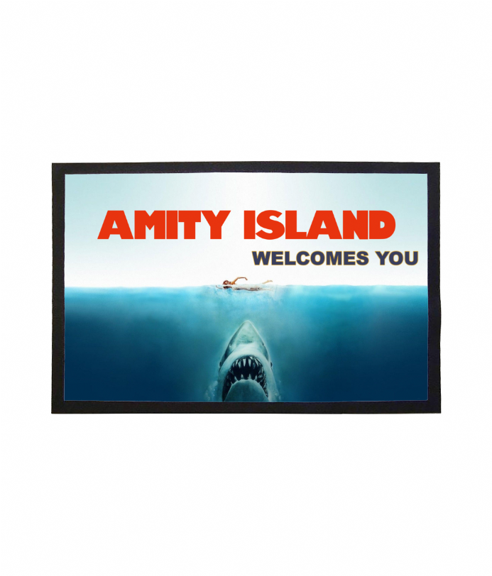 Amity Island Welcomes You Doormat Design Based on Jaws - Welcome Mat
